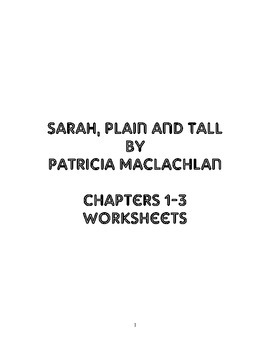 Sarah, Plain and Tall Chapters 1-3 Questions