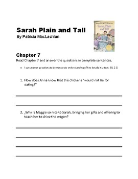Sarah Plain and Tall, Chapters 7 and 8