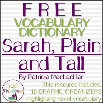 Sarah, Plain and Tall Class Dictionary