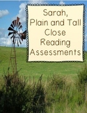 Sarah, Plain and Tall Close Reading Assessments