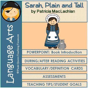 Sarah, Plain and Tall Novel Unit Common Core Aligned