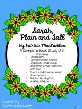 Sarah, Plain and Tall Complete Book Study Unit