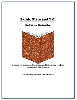 Sarah, Plain and Tall Complete Literature, Grammar, & Inte