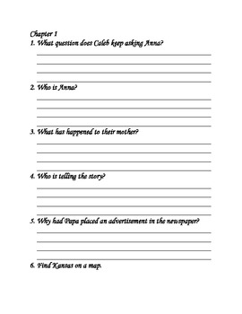 Sarah Plain and Tall- Comprehension Packet