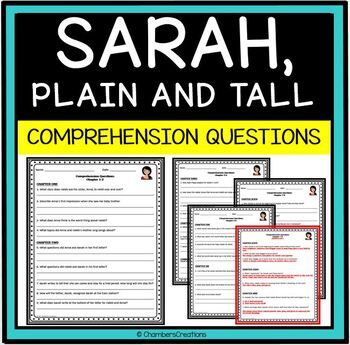 Sarah, Plain and Tall- Comprehension Questions