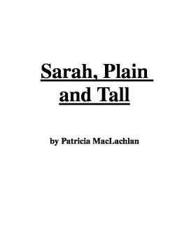 Sarah, Plain and Tall Comprehension Questions - Common Core