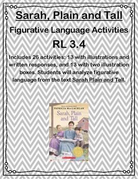 Sarah, Plain and Tall Figurative Language Activities