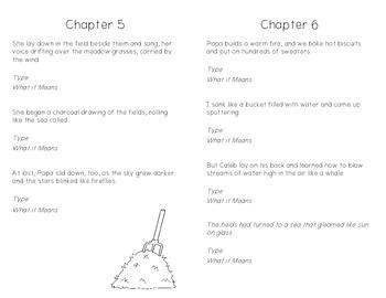 Sarah, Plain and Tall Figurative Language Mini Book