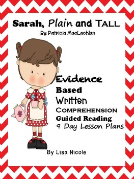 Sarah, Plain and Tall Guided Reading Lessons for Written Comprehension