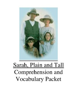 Sarah, Plain and Tall Guided Reading Unit Level R