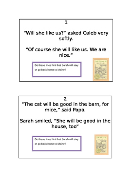 Sarah Plain and Tall Inference Activity