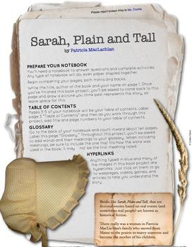 Sarah, Plain and Tall Interactive Book Project