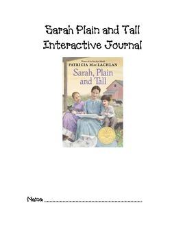Sarah, Plain and Tall Interactive Journal
