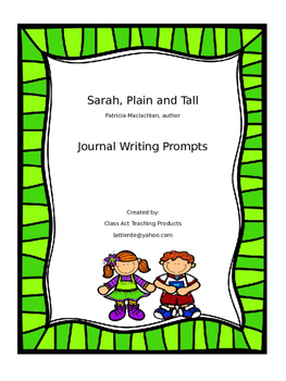 Sarah Plain and Tall Journal Writing Prompts