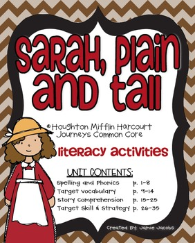 Sarah, Plain and Tall (Journeys Supplemental Materials)