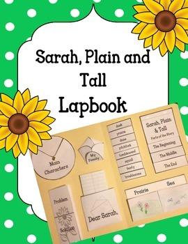 Sarah, Plain and Tall Lapbook Novel Activity. Plot Setting Main Characters