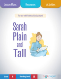 Sarah, Plain and Tall Lesson Plan, (Book Club Format - Tracking Characters) CCSS