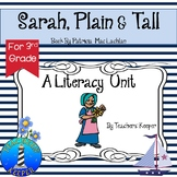 Sarah, Plain and Tall Literacy Unit w/Common Core Standards