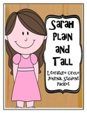 Sarah Plain and Tall Literature Circle Journal Student Packet
