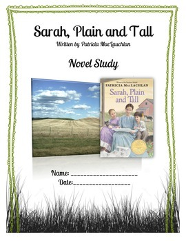Sarah, Plain and Tall - Novel Study