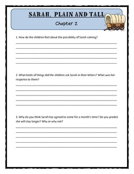 SARAH, PLAIN AND TALL by Patricia MacLachlan - Comprehension & Text Evidence