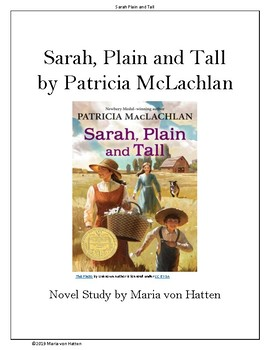 Sarah, Plain and Tall Novel Study