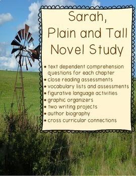 Sarah, Plain and Tall Novel Study Bundle