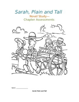 Sarah, Plain and Tall Novel Study ( Chapter Question)s