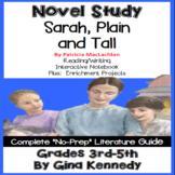 Sarah Plain and Tall Novel Study & Enrichment Project Menu