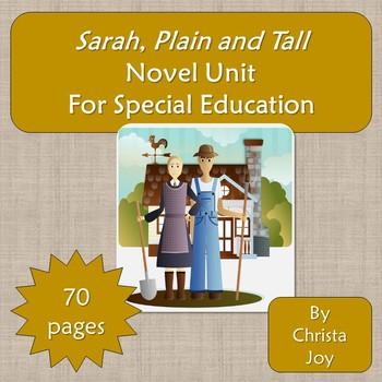 Sarah, Plain and Tall Novel Study for Special Education