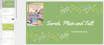 Sarah, Plain and Tall Novel Study printable and Interactive Google Slide