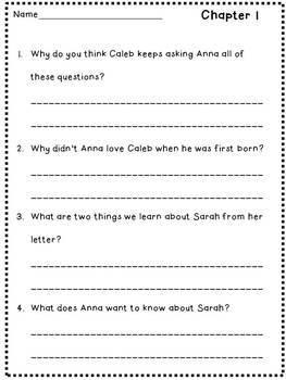 Sarah, Plain and Tall Novel Unit