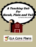 Sarah, Plain and Tall Novel Unit ~ Activities, Handouts, Tests!