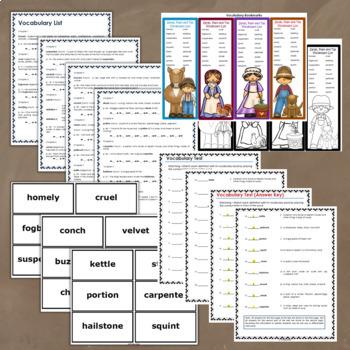 Sarah, Plain and Tall Novel Study: vocabulary, comprehension, writing, skills