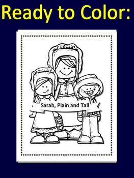 Sarah, Plain and Tall Poster Set Coloring Pages for Bulletin Boards Class Decor