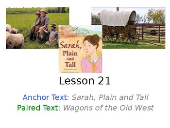 Sarah, Plain and Tall PowerPoint with Weekly Activities for Journeys 3rd Grade
