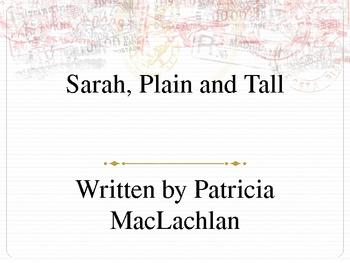Sarah, Plain and Tall Powerpoint to go with Novel Study