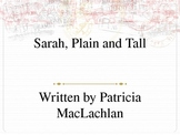 Sarah, Plain and Tall Powerpoint to go with Novel Study