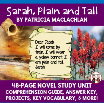 Sarah, Plain and Tall Novel Unit