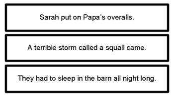 Sarah, Plain and Tall Sequencing Sentences