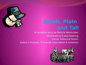 Sarah, Plain and Tall Skills Power Point