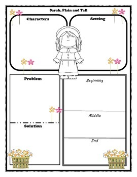 Sarah, Plain and Tall Story Map Graphic Organizer