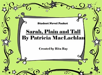 Sarah Plain and Tall Student Novel Packet