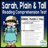 Sarah, Plain and Tall Test: Final Book Quiz with Answer Key