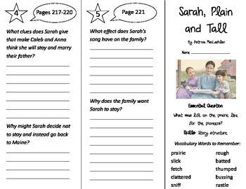 Sarah, Plain and Tall Trifold - Journeys 3rd Grade Unit 5