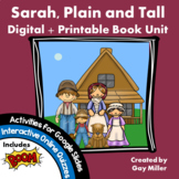 Sarah, Plain and Tall Novel Study: Digital + Printable Uni
