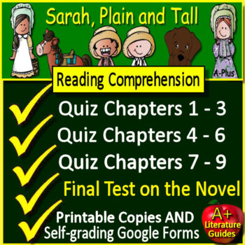 Sarah, Plain and Tall Novel Study Unit Print AND Paperless w/ Self-Grading Tests