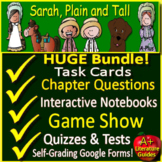 Sarah, Plain and Tall Novel Study Unit: Print AND Paperless w Self-Grading Tests