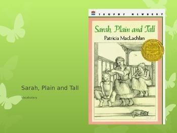 """""""Sarah, Plain and Tall"""" Vocabulary"""
