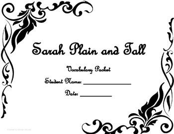 Sarah Plain and Tall Vocabulary